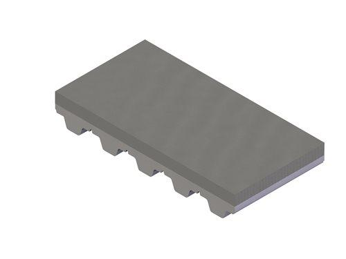 PU gray coating for timing belts